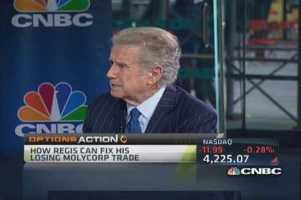Options Action: Fixing Regis' Molycorp trade