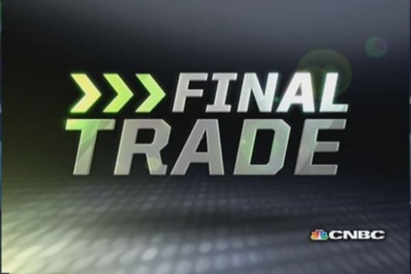 Fast Money Final Trade: Regis' CAT trade