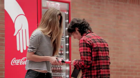 Coca-Cola's introduces the friendly twist.