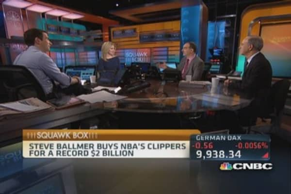 Ballmer to buy NBA's Clippers for $2B