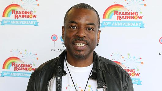 LeVar Burton, host of the Reading Rainbow.