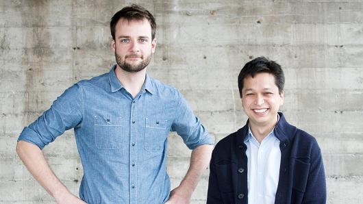 Evan Sharp and Ben Silbermann, co-founders of Pinterest