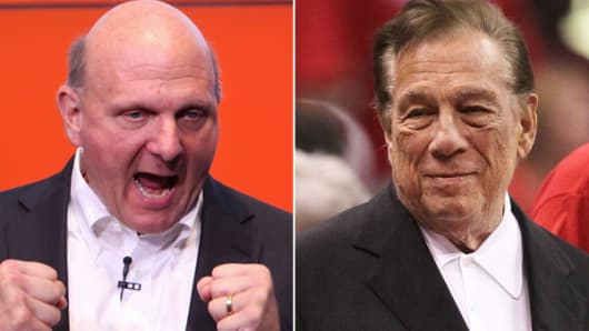 From left: Steve Ballmer and Donald Sterling