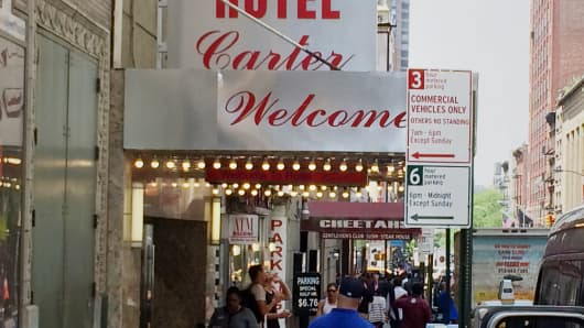 Hotel Carter in Times Square, New York.
