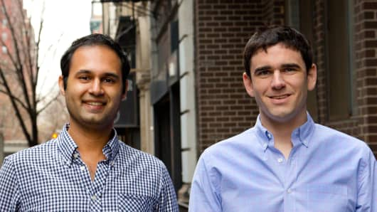 Russell D'Souza (left) and Jack Groetzinger (right) of SeatGeek