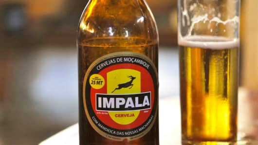 "In Mozambique, SABMiller produces a commercial-scale, cassava-based clear beer, called ""Impala."""