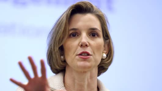 Sallie Krawcheck, president of global wealth and investment management for Bank of America Corp.