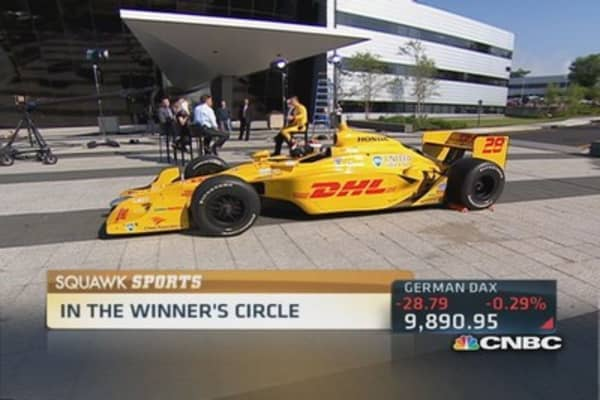 Inside Indy's winning circle with Hunter-Reay