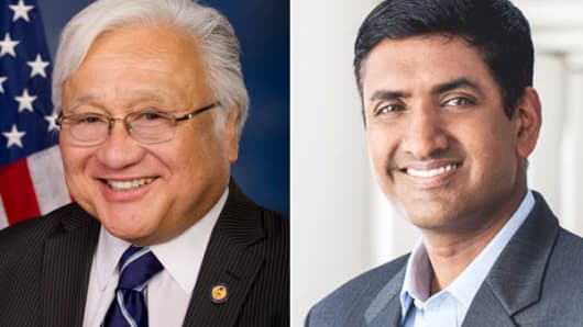 From left: Mike Honda and Ro Khanna