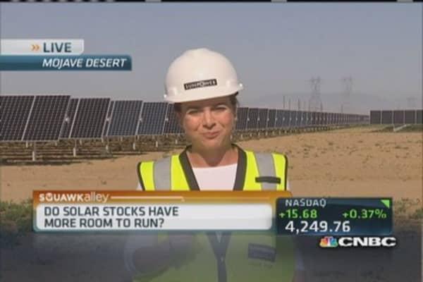 Red hot solar stocks
