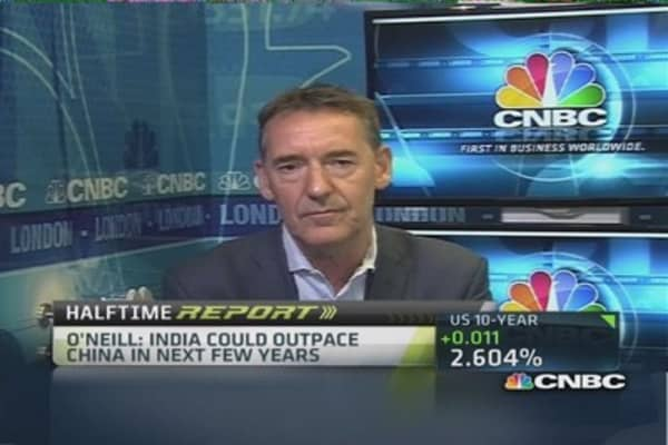 India could outpace China next few years: O'Neill