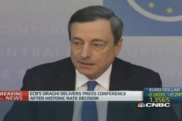 Banks and governments must step up their efforts: Draghi