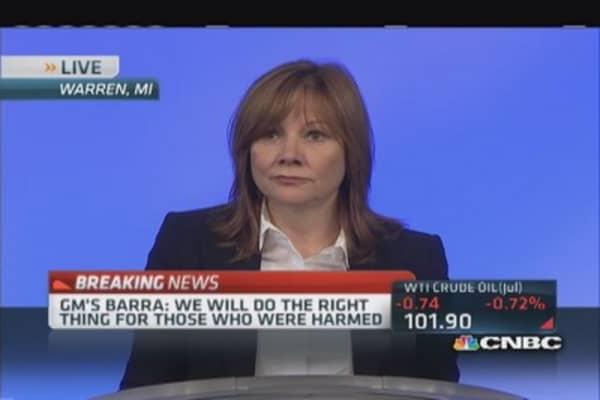CEO Barra: We failed customers
