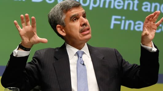 Mohamed El-Erian, during the Bretton Woods Committee annual meeting at World Bank headquarters in Washington May 21, 2014.