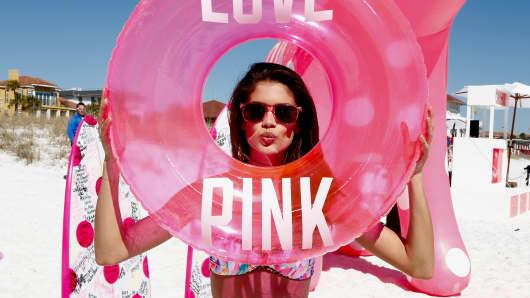 Victoria's Secret PINK Model Sara Sampaio host PINK Nation Spring Break Beach Party on March 13, 2014 in Destin, Florida.