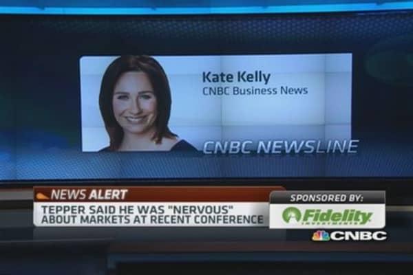 Tepper tells CNBC market concerns 'alleviated'