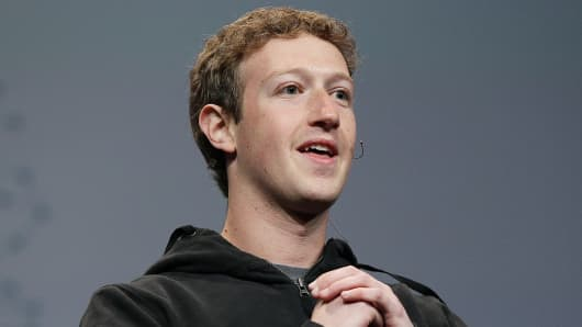 Facebook founder and CEO Mark Zuckerberg in 2010