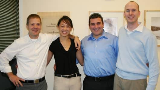 (left to right) Dan Berkenstock, Ching-Yu Hu, Julian Mann and John Fenwick, co-founders of Skybox Imaging