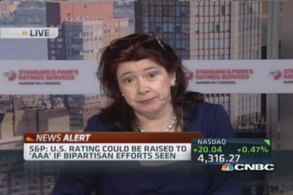 S&P affirms current US rating