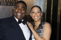 Tracy Morgan and Megan Wollover attend One Night Only: An All-Star Tribute To Don Rickles, Tuesday, May 6, 2014, in New York.