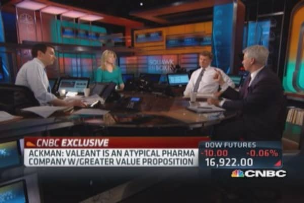 Ackman says Chanos wrong on Valeant