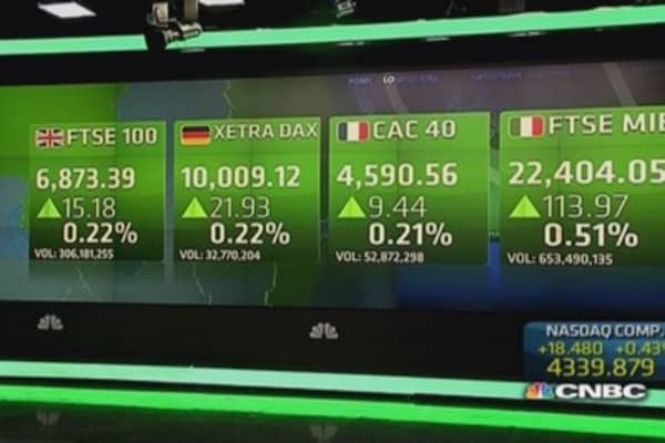 Europe closes higher amid global rally