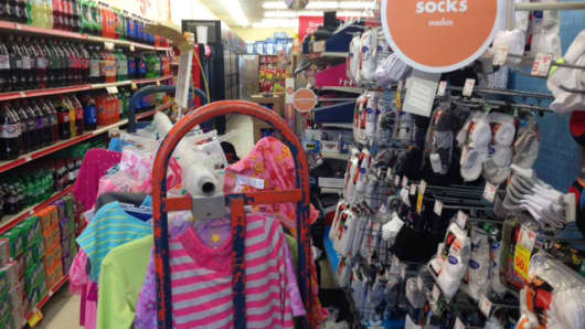 From blocked aisles that a mom with a stroller can't navigate, to hastily arranged shelves, the inventory bulge is destroying value inside Family Dollar stores as well as outside.