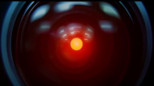Still of Hal 9000 from the motion picture 2001: A Space Odyssey