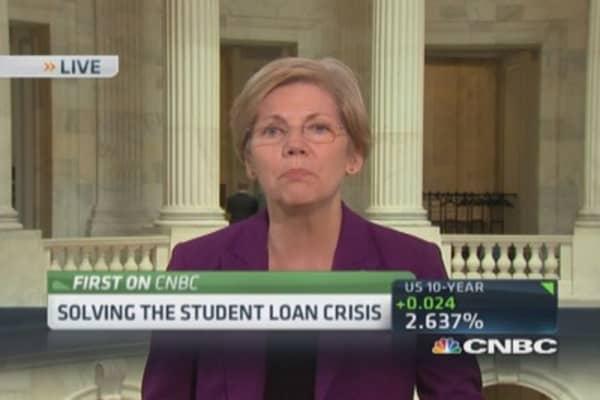 Sen. Warren: Students should not be financing government
