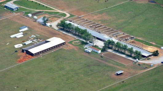 Jose Trevino Morales' 140 acre farm in Oklahoma seized by federal agents in 2012.