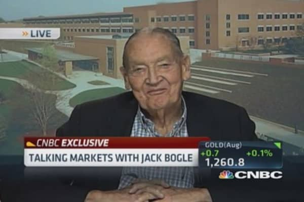 Jack Bogle: Better off in stocks