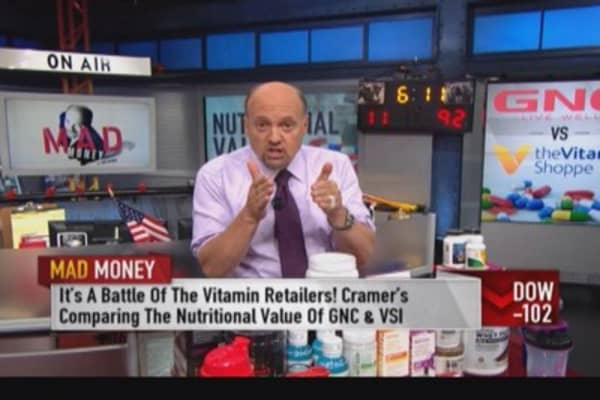 Use GNC weakness to buy Vitamin Shoppe: Cramer