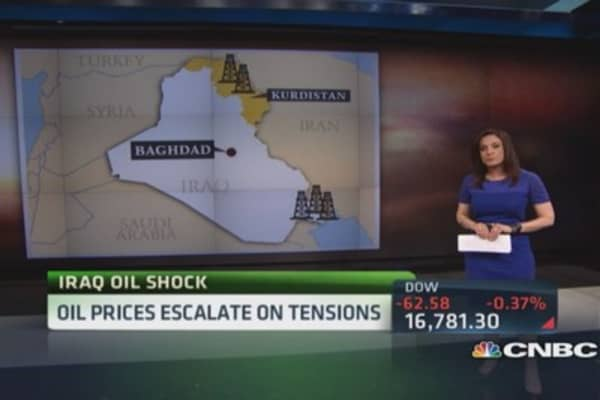 Iraq instability jolts oil prices