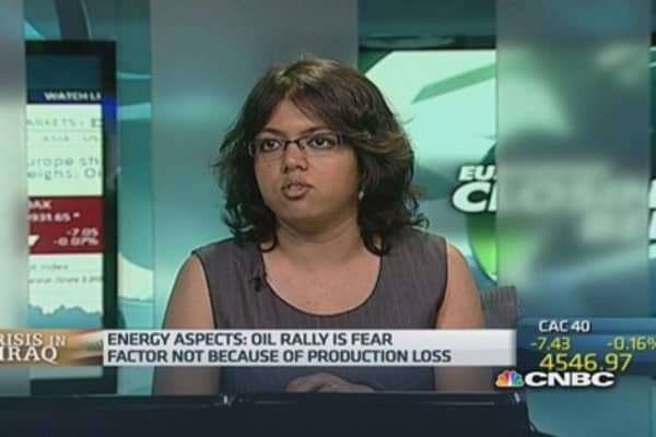 Oil rally due to Iraq