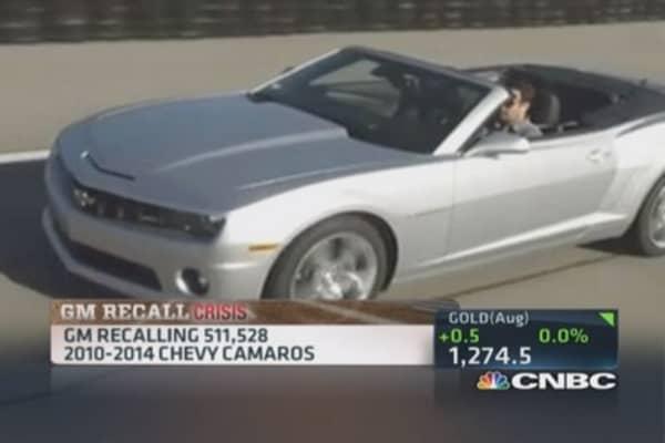 GM recalls new Camaros