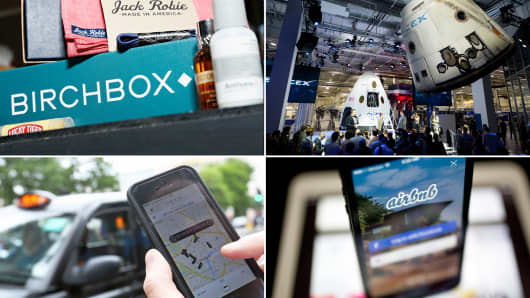 2015 Disruptors: Birchbox, SpaceX, Uber and Airbnb