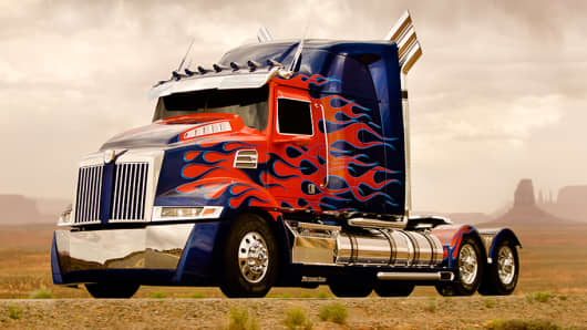 Some lucky individuals will get the ride of their lives inside Optimus Prime, courtesy of Uber.