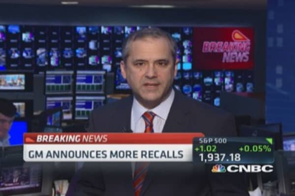 GM announces more recalls
