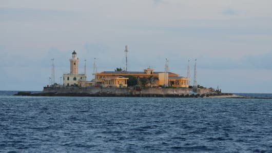 This picture taken by Vietnam News Agency shows Phan Vinh Island in the Spratly archipelago.