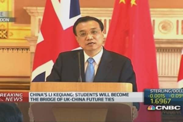 China-UK trade should hit $100B: Li