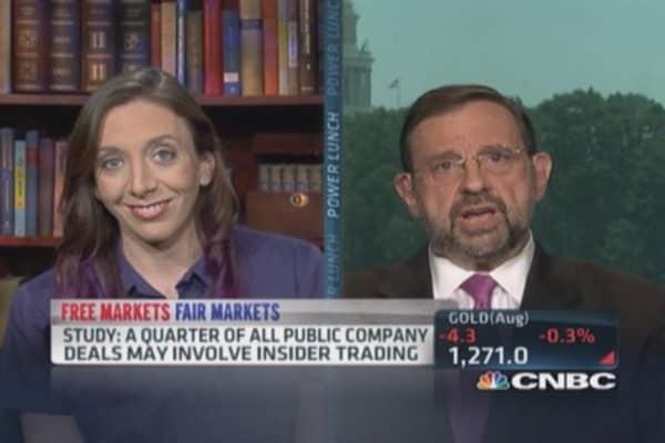 Study: 1/4 Public company deals may involve insider trading