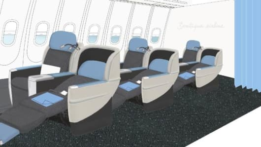 La Compagnie's 74 seats will fully recline.