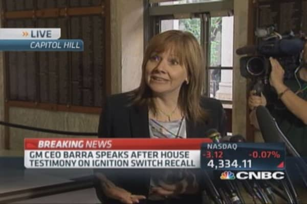 GM's Barra addresses mounting recalls