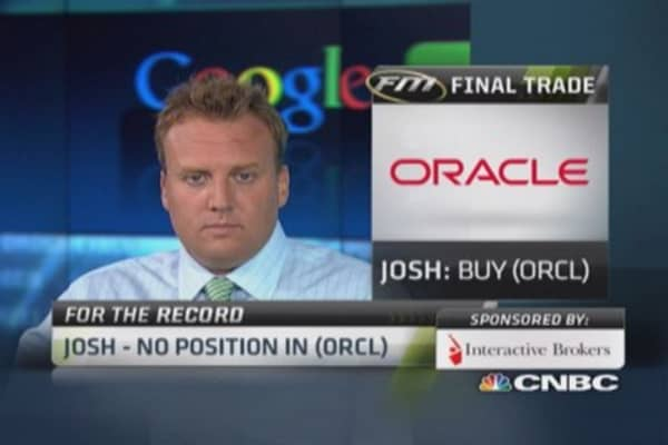 Fast Money Final Trade: ORCL, EBAY, ADT, X