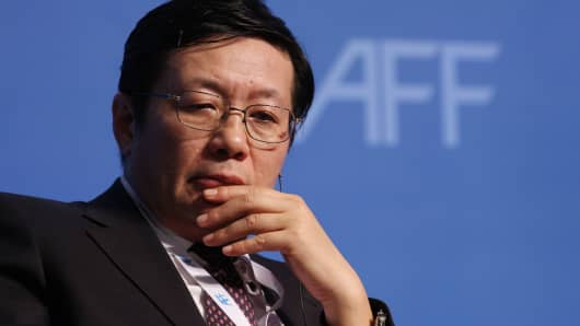 Lou Jiwei, China's Minister of Finance and former chairman of the China Investment Corp.