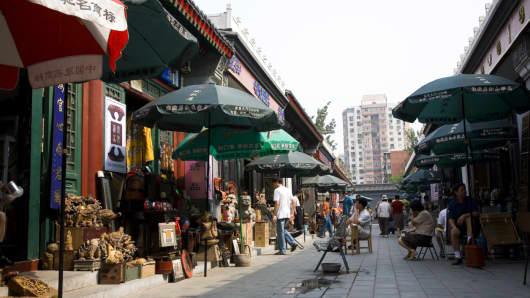 A flea market in Beijing, China.