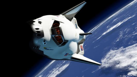 Sierra Nevada's Dream Chaser spacecraft in orbit