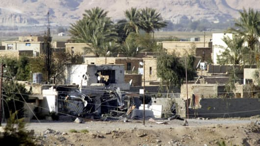 Town of al-Qaim at the Iraqi-Syrian border