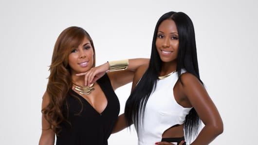 Hair Are US founders Ashley Williams, left, and Khat Rabbani