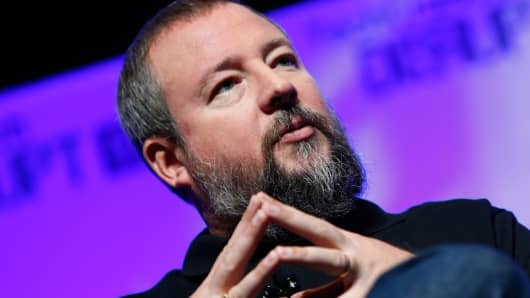 Vice Media co-founder and CEO Shane Smith speaks at TechCrunch Disrupt NY 2014 in New York, May 5, 2014.